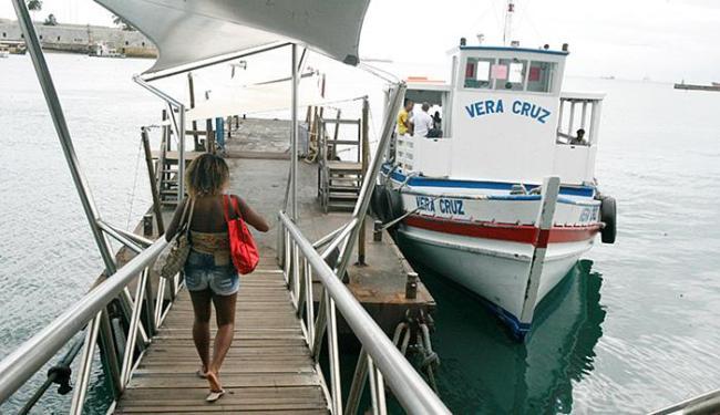 Por volta das 5h, oito embarcações faziam o trajeto a cada meia hora - Foto: Luciano da Matta l Ag. A TARDE