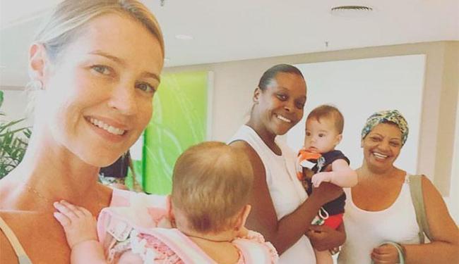 Luana costuma compartilhar fotos com as babás nas redes sociais - Foto: Reprodução   Facebook