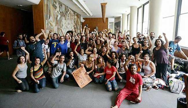 Cerca de 200 artistas ocuparam o prédio - Foto: Reprodução | Mídia Ninja