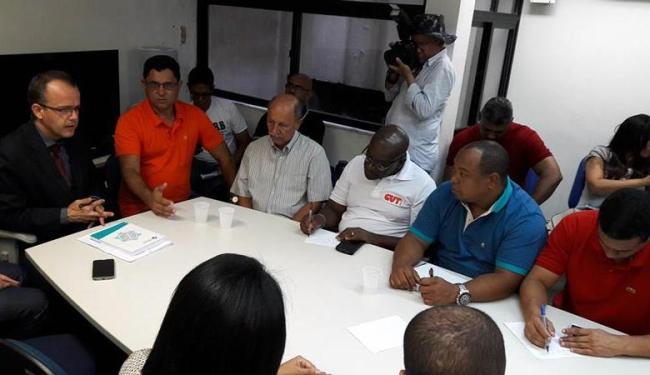 Rodoviários realizaram 1ª reunião na sede do Ministério do Trabalho e Emprego - Foto: Divulgação