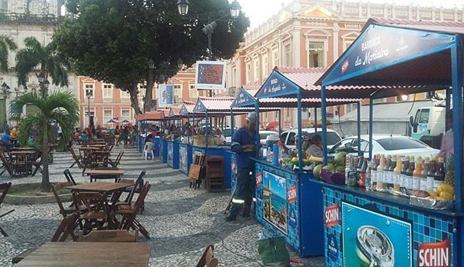 As barracas foram oferecidas para a reabertura da tradicional Terça da Bênção - Foto: Agecom-PMS l Divulgação