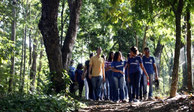 Estudantes têm aula no Jardim Botânico, em São Marcos - Foto: Lúcio Távora | Ag. A TARDE