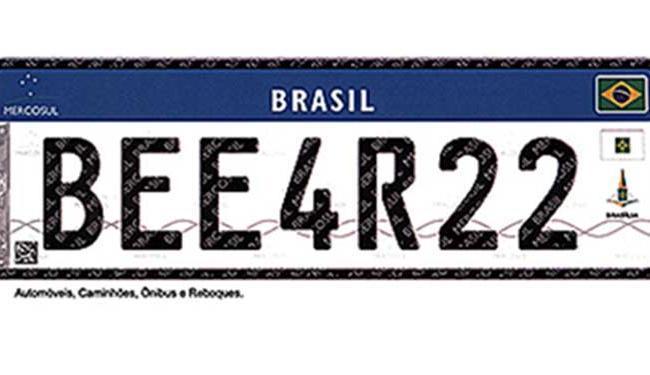 Carros 0km já sairão com as novas placas em 2017 - Foto: Contran | Divulgação