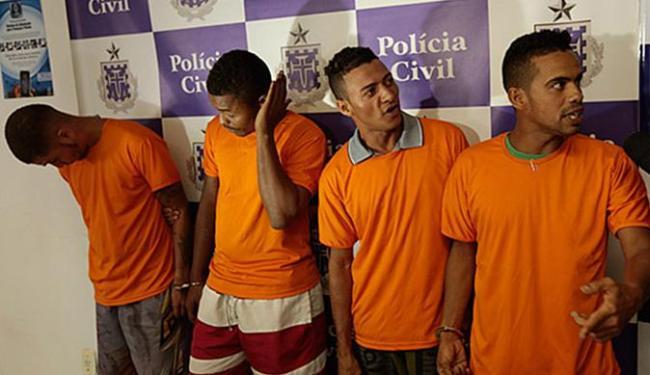 Da esquerda para direita: Galego, Carimã, Dum e Léo Games foram presos na operação - Foto: Lucas Melo | Ag. A TARDE