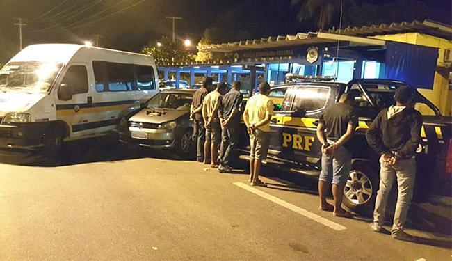 Seis pessoas foram presas nesta sexta, 13, pela PRF - Foto: Divulgação l PRF