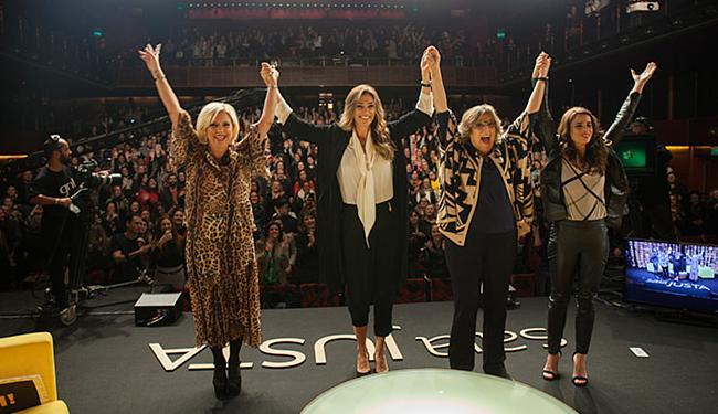 Astrid Fontenelle, Mônica Martelli, Barbara Gancia e Maria Ribeiro interagiram com a plateia - Foto: Giulio Paletta l Divulgação