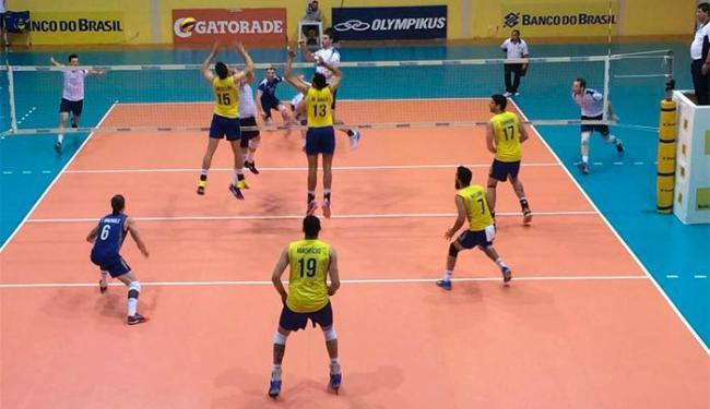 Em Saquarema, sem a presença de torcedores ou da imprensa, o Brasil bateu a Eslovênia por 3 a 1 - Foto: Divulgação | CBV