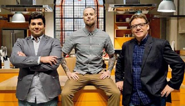 Felipe Bronze, André Mifano e Claude Troigros são os chefs mentores do reality The Taste Brasil - Foto: Divulgação
