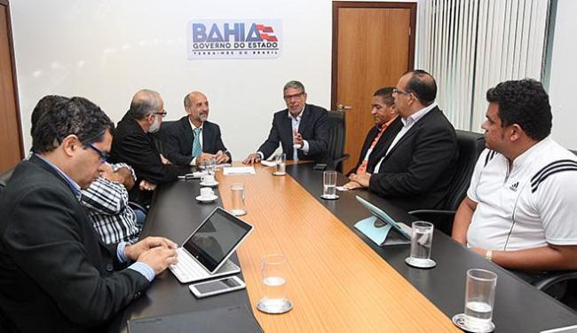 Prefeitos das sete Cidades Celebração em reunião com o governo - Foto: Camila Souza l GOV-BA