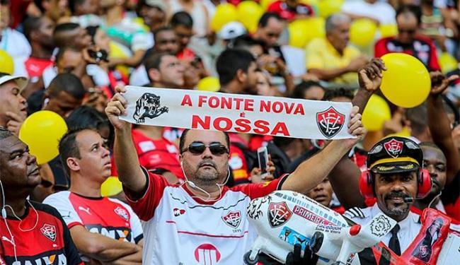 Torcida rubro-negra espera fazer a festa do título nas arquibancadas da Fonte Nova - Foto: Divulgação l Itaipava Arena Fonte Nova