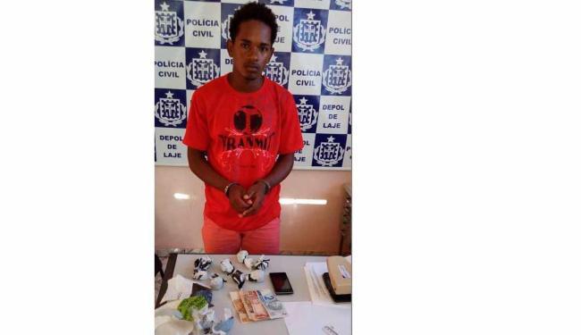 Rodrigo dos Santos Barbosa, de 25 anos, foi preso no povoado de Sete Voltas - Foto: PC-BA / Divulgação