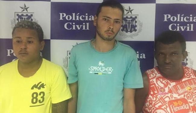 Roney, Everaldo e Gerson levados ao Presídio Regional de Feira de Santana. - Foto: Depin/Coorpin / Divulgação