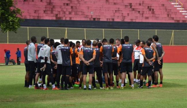 Jogadores continuam a preparação para a final do Baianão contra o Bahia, neste domingo, 8 - Foto: Francisco Galvão   E.C.Vitória
