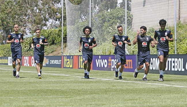 Jogadores correram em volta do campo na manhã desta segunda-feira, 23 - Foto: Rafael Ribeiro l CBF