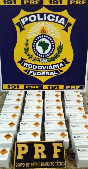 Artefatos teriam sido comprados em Coronel Murta (MG) e seriam distribuídos em Feira de Santana - Foto: Divulgação | Polícia Rodoviária Federal