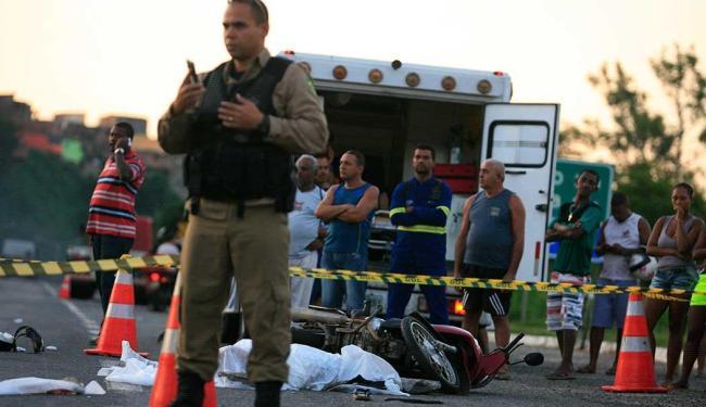 Acidente aconteceu por volta das 16h - Foto: Joá Souza | Ag. A TARDE