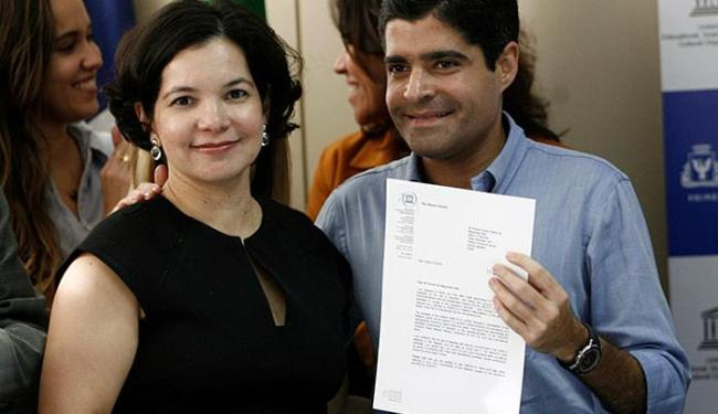 ACM Neto recebe título por Patrícia Braz, da Unesco - Foto: Adilton Venegeroles l Ag. A TARDE
