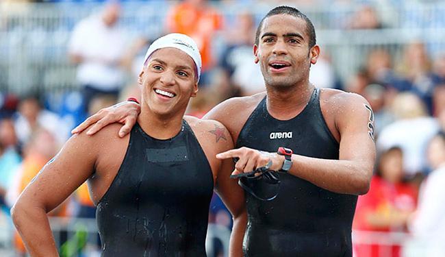 Allan do Carmo e Ana Marcela são duas das esperanças baianas - Foto: Hannibal Hanschke l Reuters