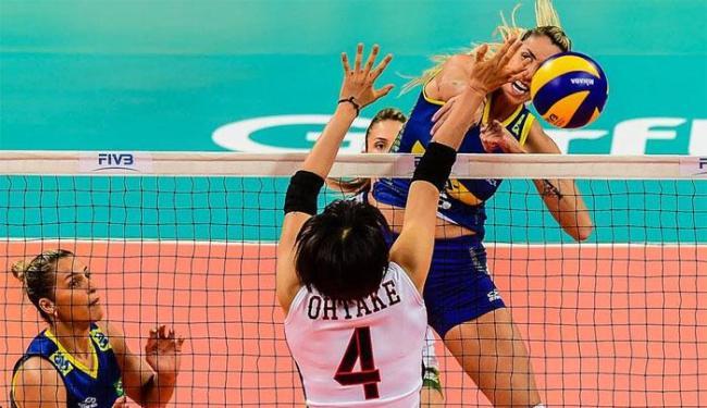 A seleção feminina de vôlei venceu as japonesas por 3 sets a 0 - Foto: Divulgação | CBV