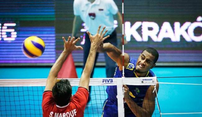 Brasil voltou a vencer o Irã na Liga Mundial - Foto: Divulgação | FIVB