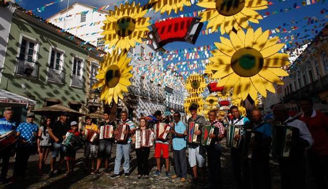 Sanfoneiros abriram o São João no Pelourinho - Foto: Margarida Neide | Ag. A TARDE