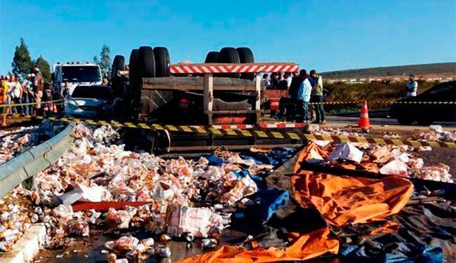 Criança viajava em caminhão que transporte cerveja - Foto: Reprodução | Blog do Leo Santos