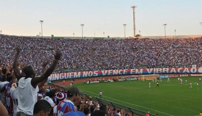 A partida será no estádio de Pituaçu, palco do acesso de 2010. - Foto: Divulgação l EC Bahia