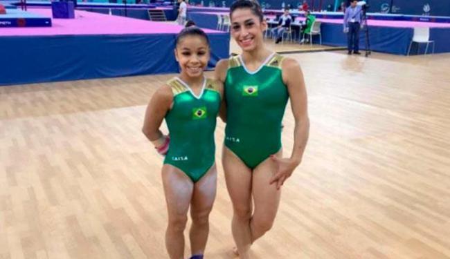 Flavia Saraiva, ao lado de Daniele Hypólito, é a esperança de ouro para o Brasil nas Olimpíadas - Foto: Divulgação