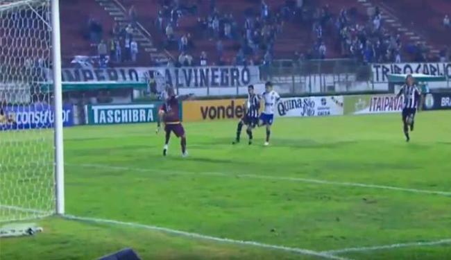 Luisinho entrou no segundo tempo e fez o único gol do Bahia - Foto: Reprodução