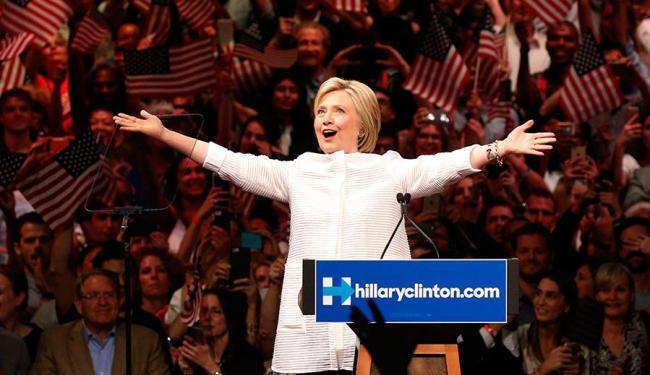 Hillary é a primeira mulher a ser candidata de uma grande partido nas eleições dos EUA - Foto: Lucas Jackson | Agência Reuters