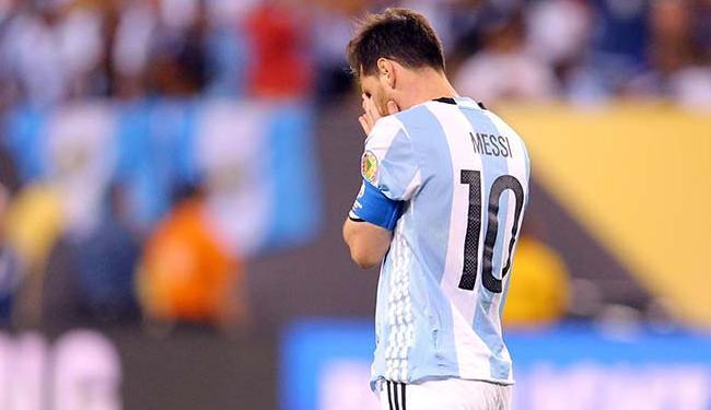 Messi após derrota da Argentina para o Chile na Copa América Centenário - Foto: Agência Reuters