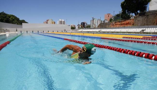 Seleções do nado sincronizado e do polo aquático terão a serviço a a Piscina Olímpica, na Bonocô - Foto: Raul Spinassé   Ag. A TARDE