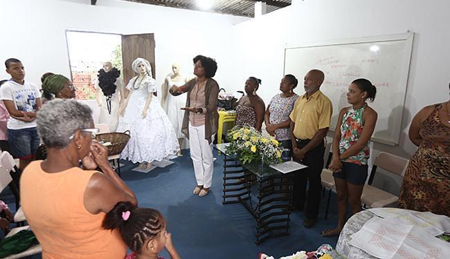 Anhamona de Brito, da SJDHDS, fala durante primeira aula do projeto Motimba Mameto - Foto: Joá Souza l Ag. A TARDE
