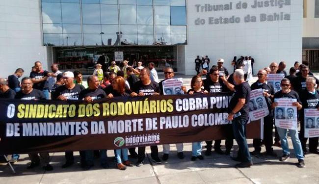 Rodoviários e familiares cobram júri pelo assassinato de sindicalistas - Foto: Luciana da Matta | Ag. A TARDE