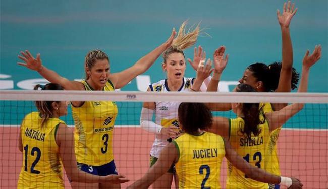 Com o triunfo, o Brasil larga bem no Grupo B da competição, que conta ainda com Japão e Sérvia - Foto: Dvulgação | CBV