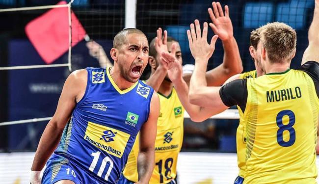 O Brasil derrotou o Irã por 3 sets a 0, com parciais de 25/19, 25/16 e 28/26 - Foto: Reprodução | CBV