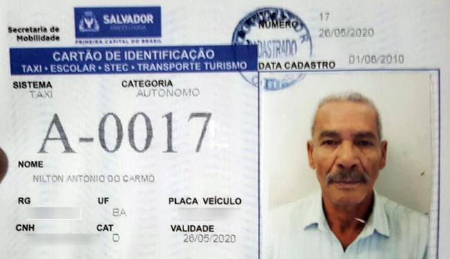 Nilton Antônio circulava com o táxi quando foi abordado por um assaltante - Foto: Reprodução