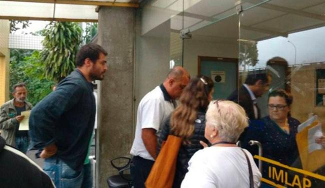 Thiago Lacerda chegou ao IML do para liberar corpo de tio - Foto: Foto: Pedro Zuazo