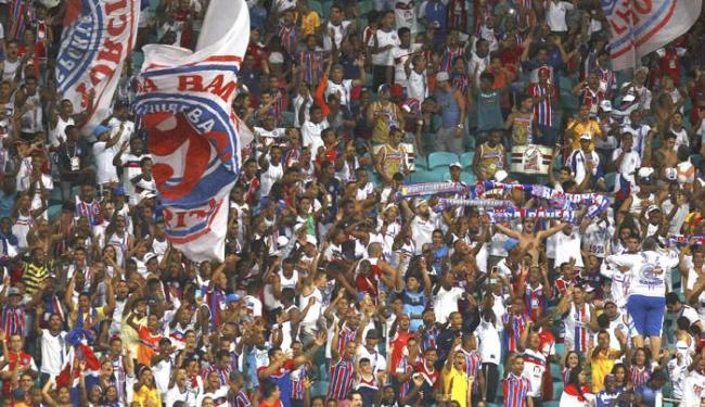 Organizada da Bamor está proibida pela polícia de acessar qualquer estádio - Foto: Raul Spinassé | Ag. A TARDE