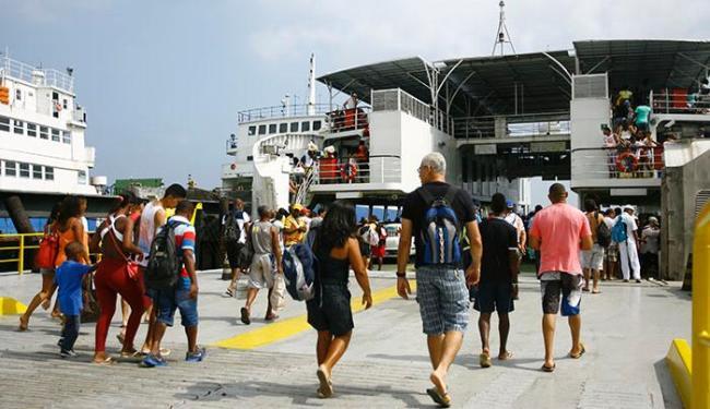 Sete embarcações estarão operando durante o feriado de São João - Foto: Joá Souza/ Ag. A TARDE