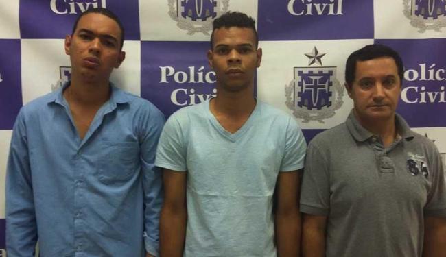 Joebson Santos, Deiverson Pereira e Márcio Verginacci - Foto: Ascom | Polícia Civil