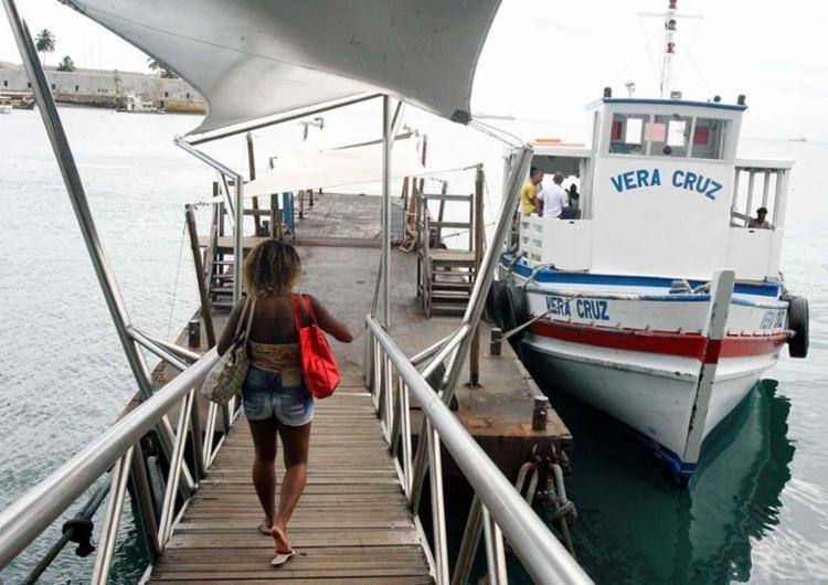 Mau tempo impede a travessia entre Salvador e Mar Grande - Foto: Luciano da Matta | Ag. A TARDE