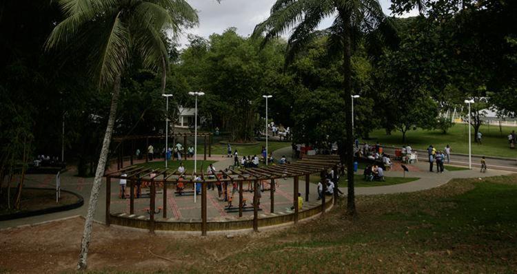 No Parque da Cidade, serão realizadas aulas de boxe e alongamento - Foto: Raul Spinassé | Ag. A TARDE