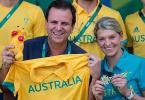 Gafes marcam encontro entre Paes e australianos na Vila Olímpica - Foto: Felipe Dana/AP