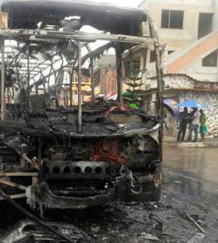 Ônibus é queimado durante manifestação em Paripe; fim de linha é alterado - Foto: Divulgação | Daniel Mota e Tito BTU