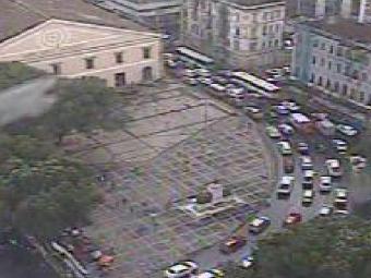 Ato deixa trânsito congestionado no Comércio - Foto: Reprodução | Twitter
