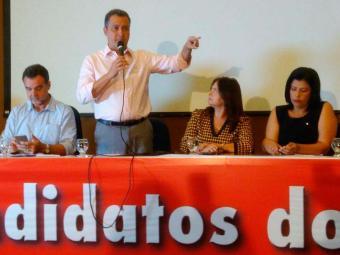 Governador Rui Costa discursa em evento do PCdoB - Foto: Luan Santos | Ag. A TARDE
