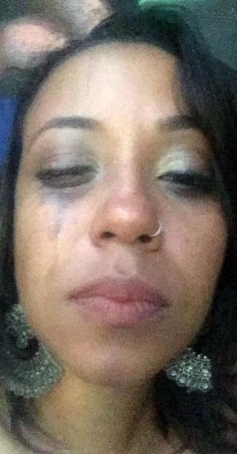 Aiace foi agredida com três socos no rosto - Foto: Reprodução | Facebook