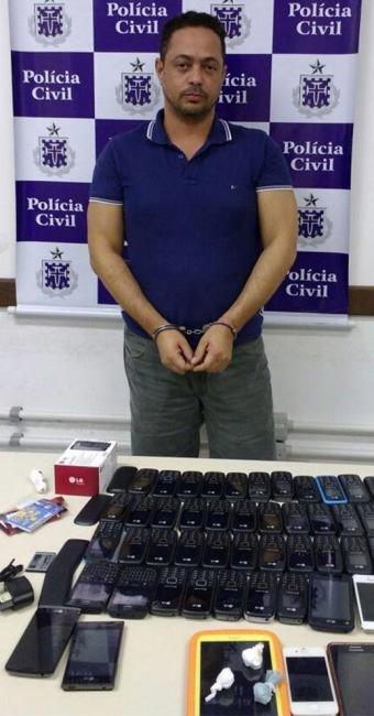 Paulo José foi capturado com 52 celulares na estação rodoviária - Foto: Polícia Civil l Divulgação