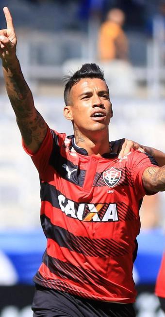 Vander celebra gol do empate com o Cruzeiro no Mineirão - Foto: Daniel Teobaldo l Estadão Conteúdo